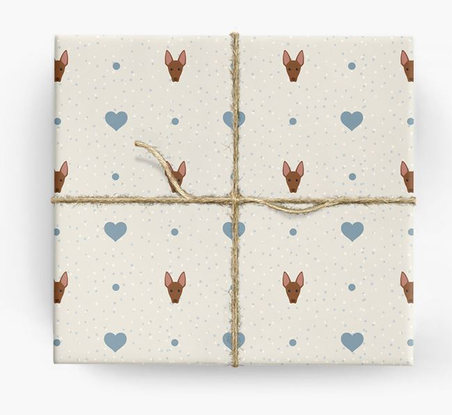 American Hairless Icon & Hearts Wrapping Paper
