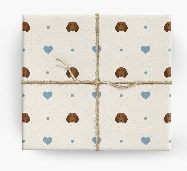 Beagle Icon & Hearts Wrapping Paper