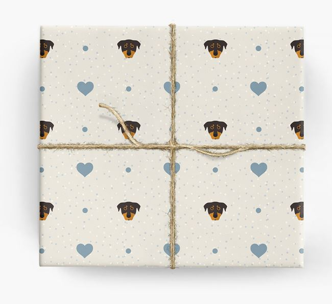 Beauceron Icon & Hearts Wrapping Paper