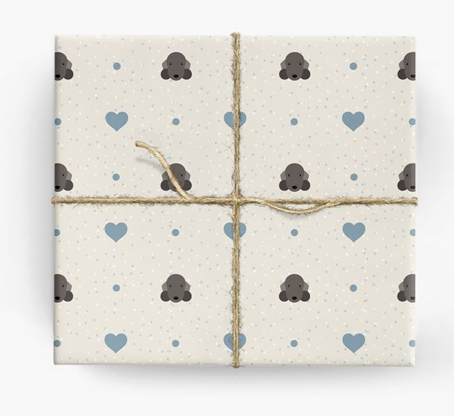 Bedlington Icon & Hearts Wrapping Paper