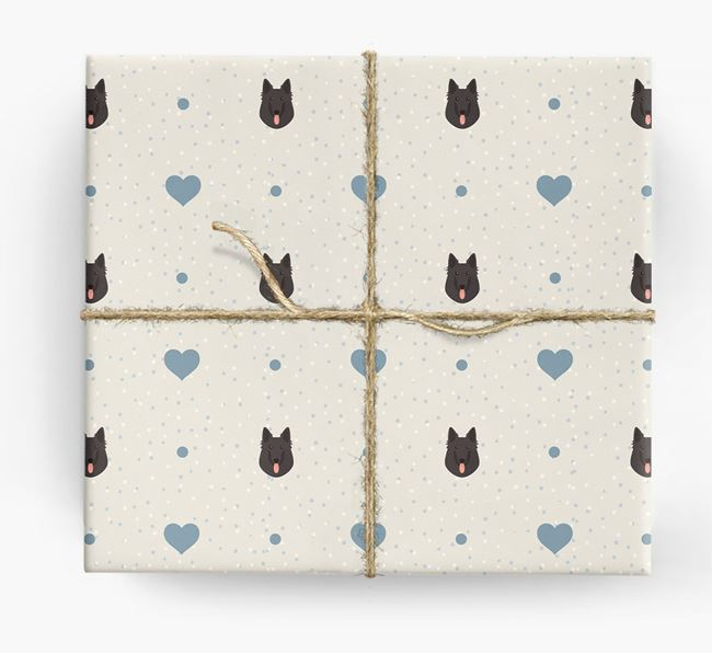 Belgian Shepherd Icon & Hearts Wrapping Paper