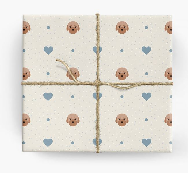 Bich-poo Icon & Hearts Wrapping Paper