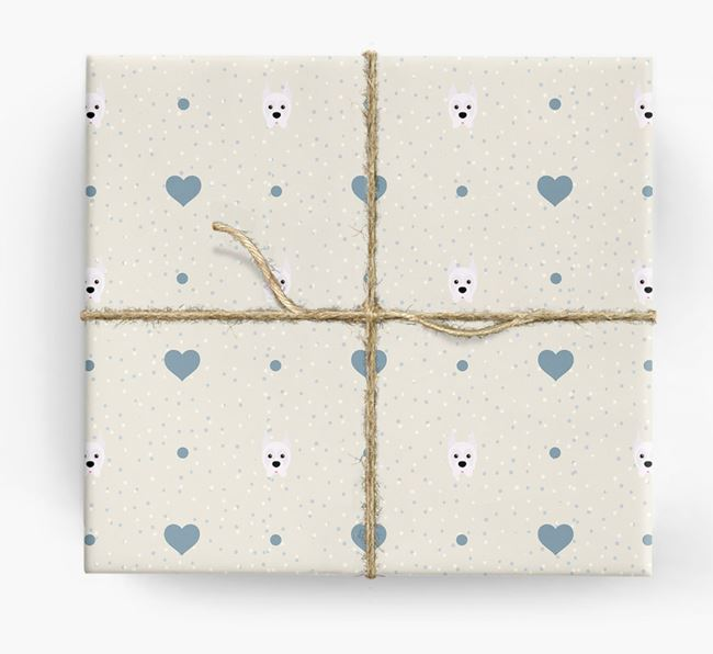 Boxer Icon & Hearts Wrapping Paper