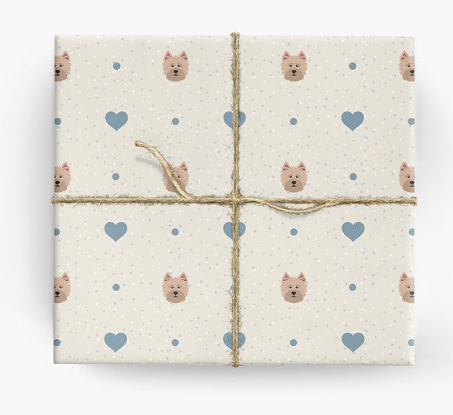 Cairn Terrier Icon & Hearts Wrapping Paper