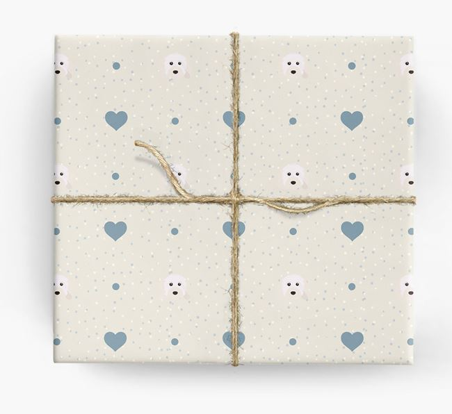 Cavapoo Icon & Hearts Wrapping Paper