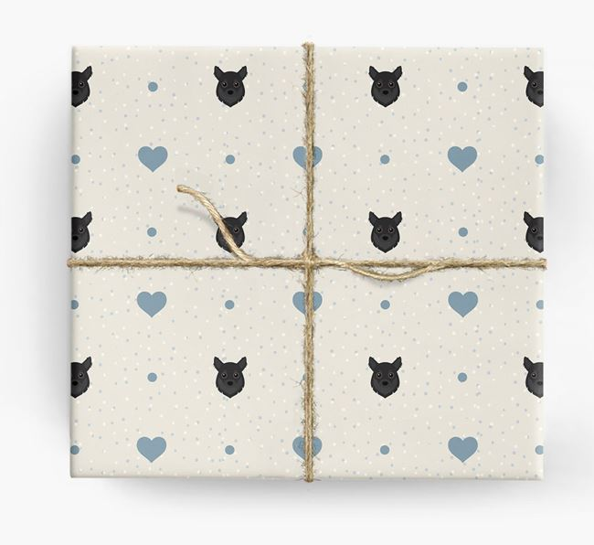 Chihuahua Icon & Hearts Wrapping Paper