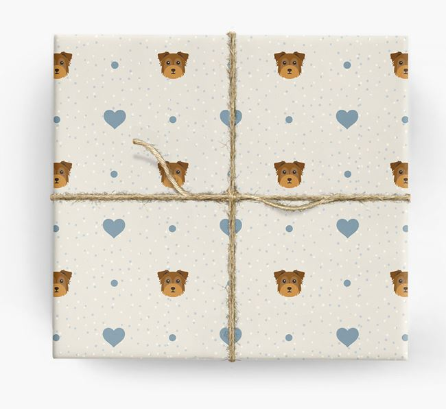 Chorkie Icon & Hearts Wrapping Paper