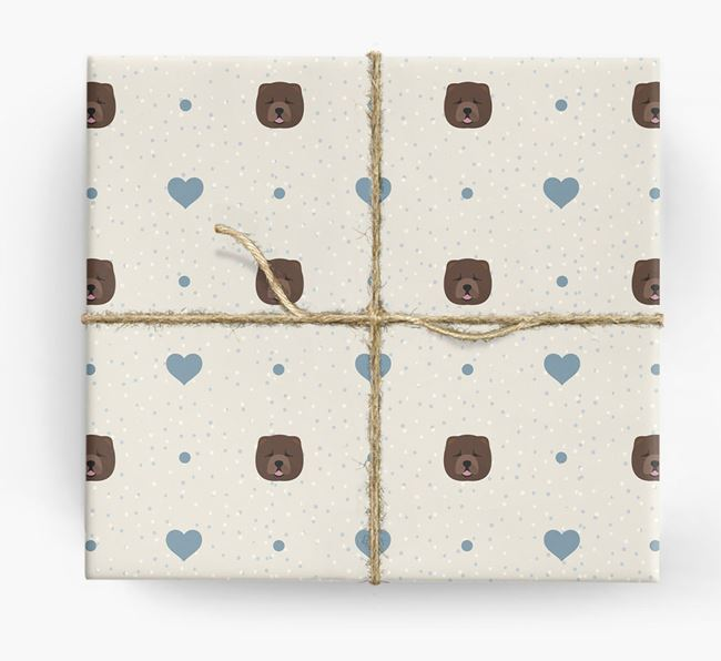 Chow Chow Icon & Hearts Wrapping Paper