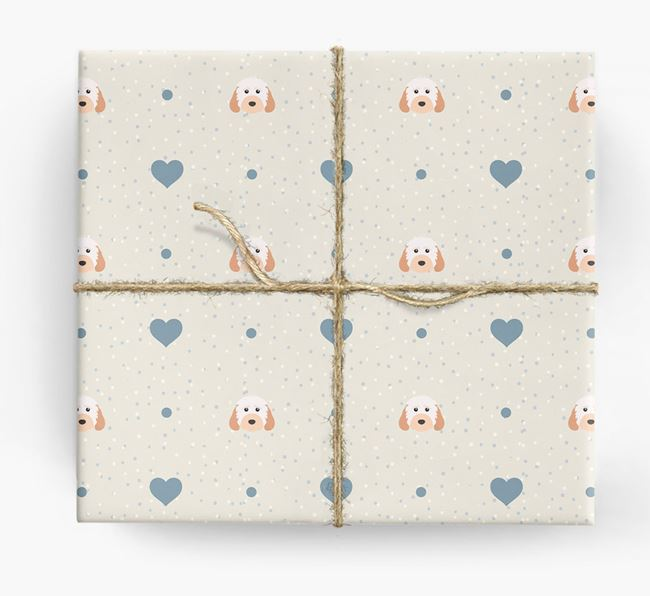 Cockapoo Icon & Hearts Wrapping Paper