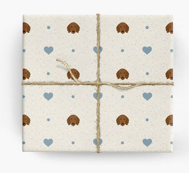 Dachshund Icon & Hearts Wrapping Paper