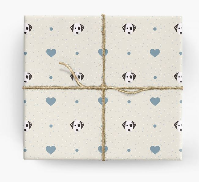 Dalmatian Icon & Hearts Wrapping Paper