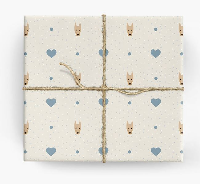 Dobermann Icon & Hearts Wrapping Paper