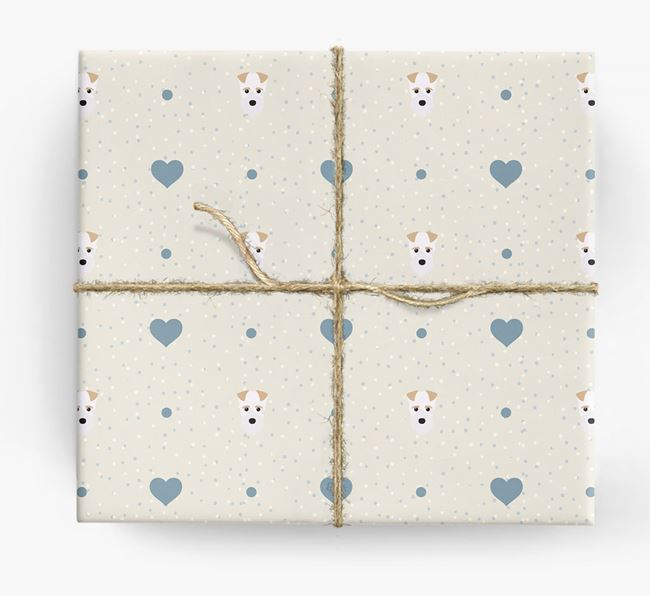 Fox Terrier Icon & Hearts Wrapping Paper