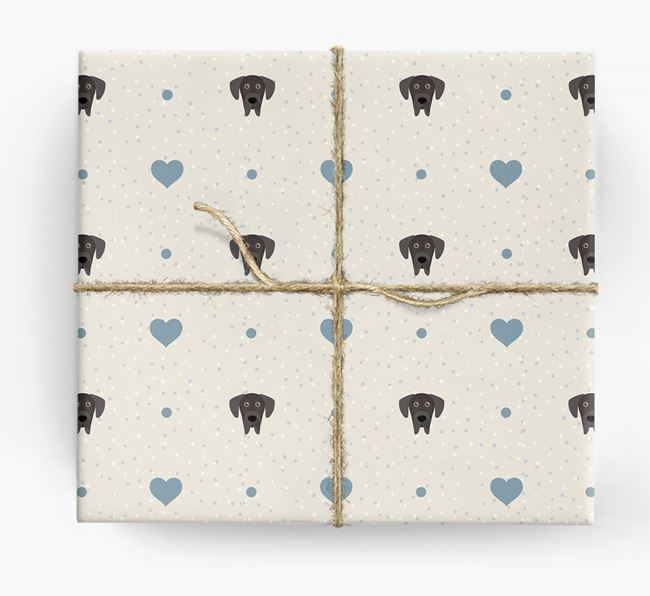Great Dane Icon & Hearts Wrapping Paper