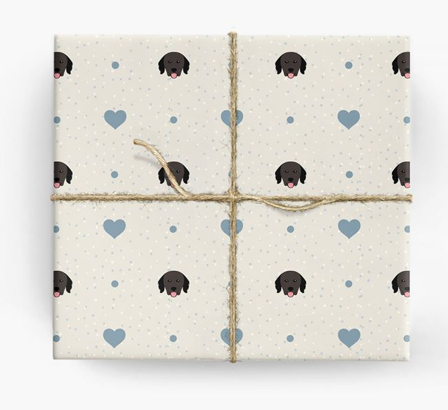 Hovawart Icon & Hearts Wrapping Paper