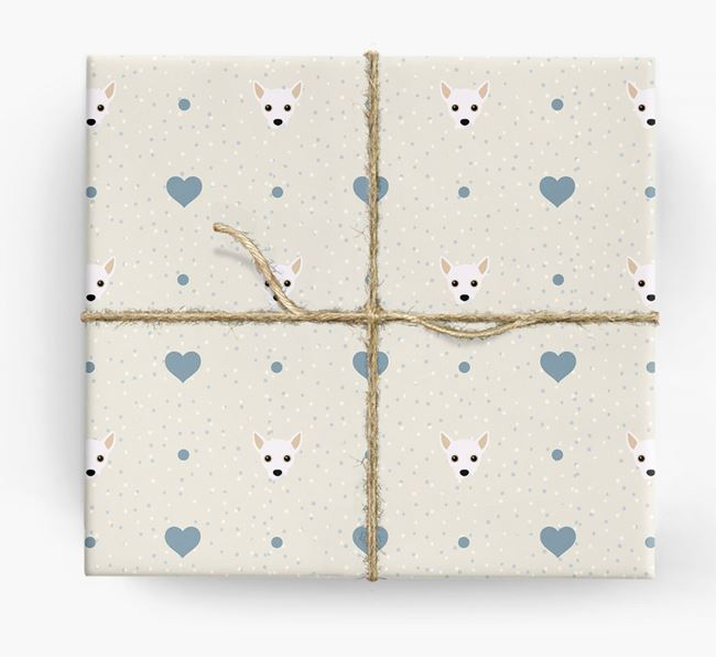 Jack Chi Icon & Hearts Wrapping Paper