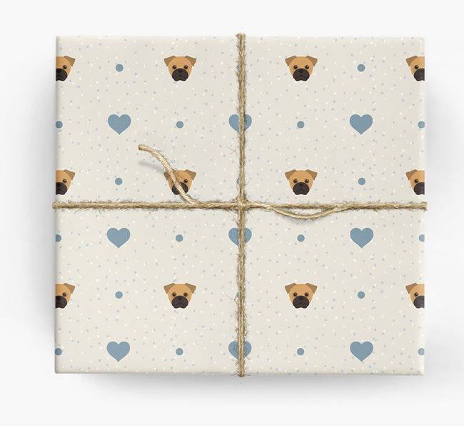 Jug Icon & Hearts Wrapping Paper