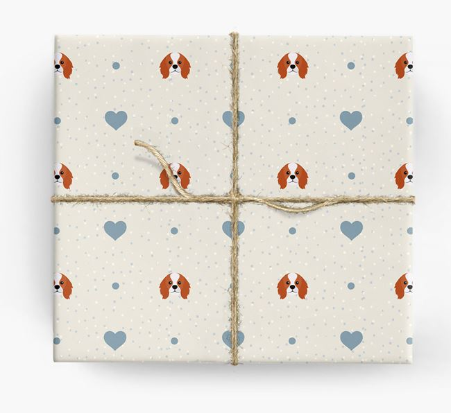 King Charles Icon & Hearts Wrapping Paper
