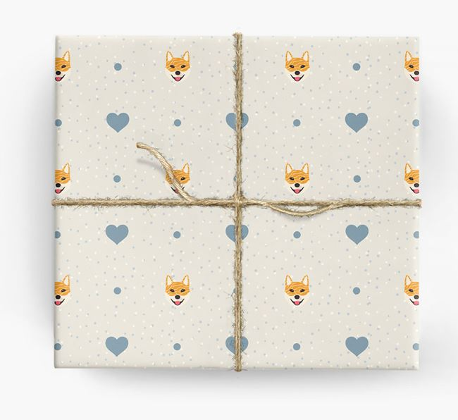 Jindo Icon & Hearts Wrapping Paper