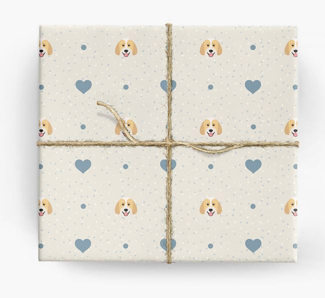 Labradoodle Icon & Hearts Wrapping Paper