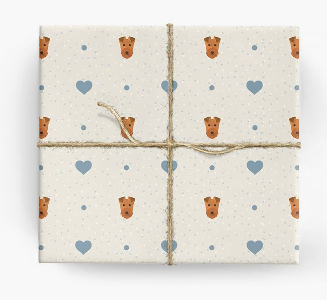 Lakeland Icon & Hearts Wrapping Paper