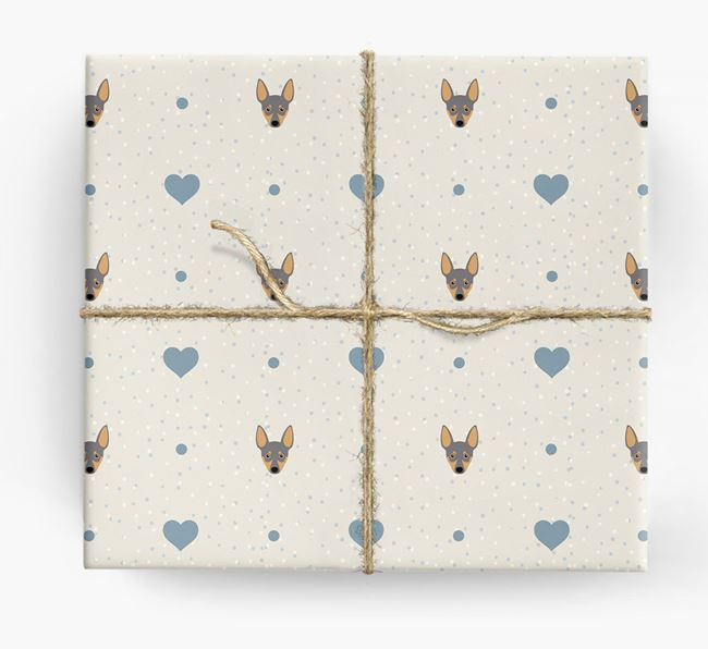 Miniature Pinscher Icon & Hearts Wrapping Paper