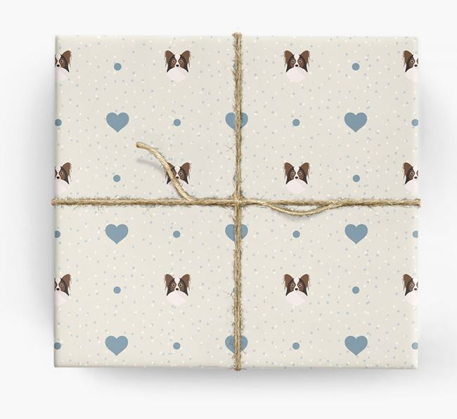Papillon Icon & Hearts Wrapping Paper
