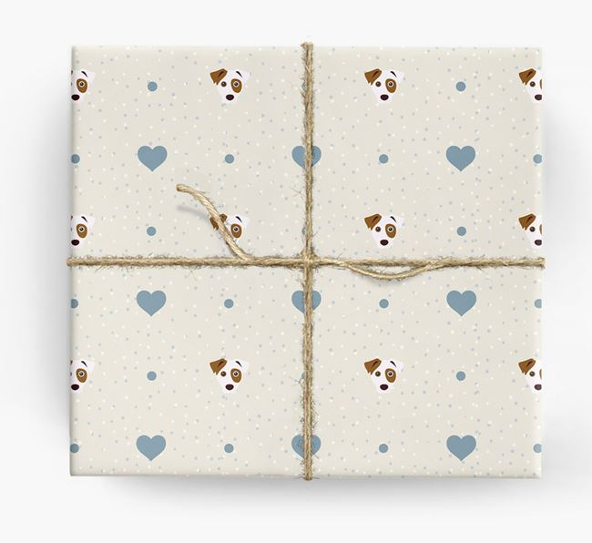 Parson Russell Icon & Hearts Wrapping Paper