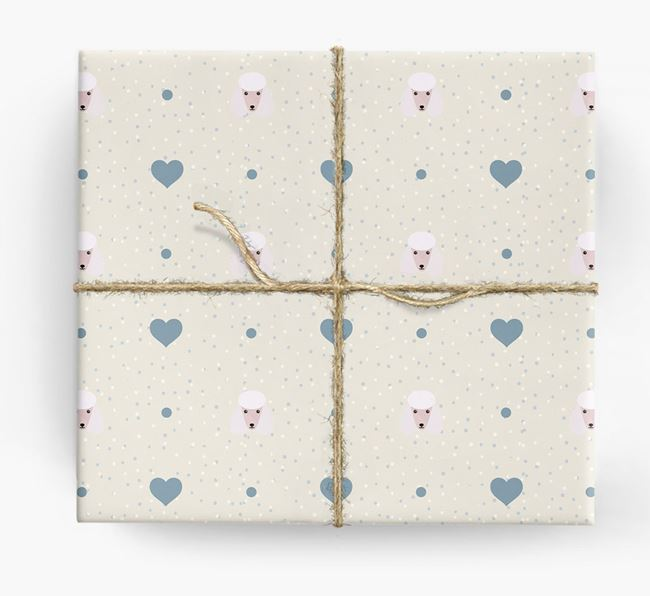 Poodle Icon & Hearts Wrapping Paper
