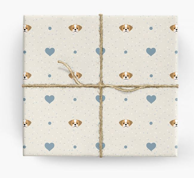 Puggle Icon & Hearts Wrapping Paper