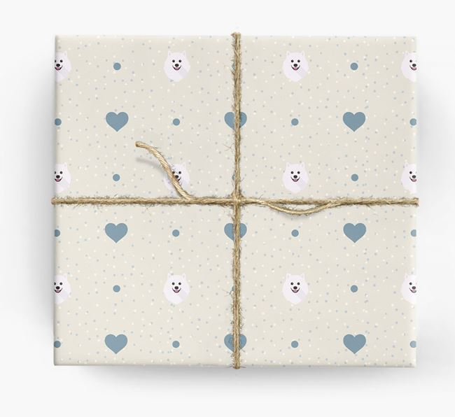 Samoyed Icon & Hearts Wrapping Paper