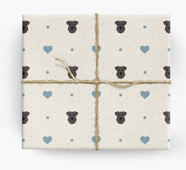 Schnauzer Icon & Hearts Wrapping Paper
