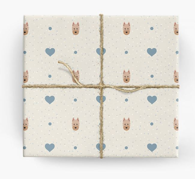 Scottish Terrier Icon & Hearts Wrapping Paper
