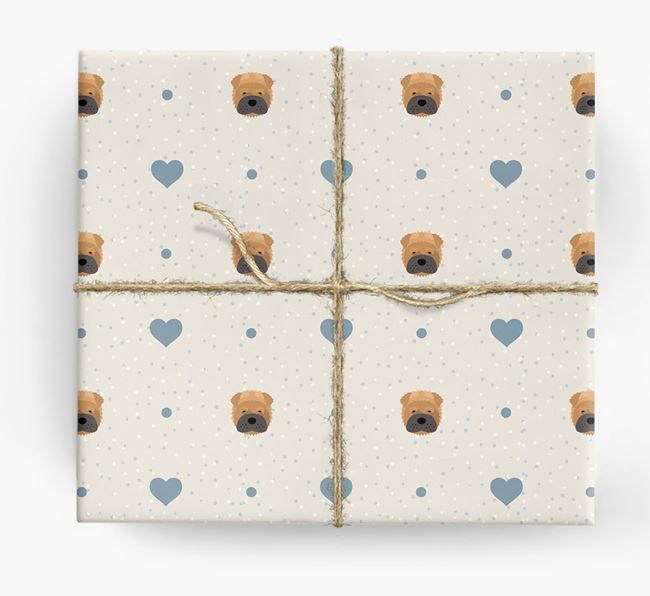 Shar Pei Icon & Hearts Wrapping Paper