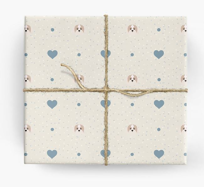 Shih-poo Icon & Hearts Wrapping Paper