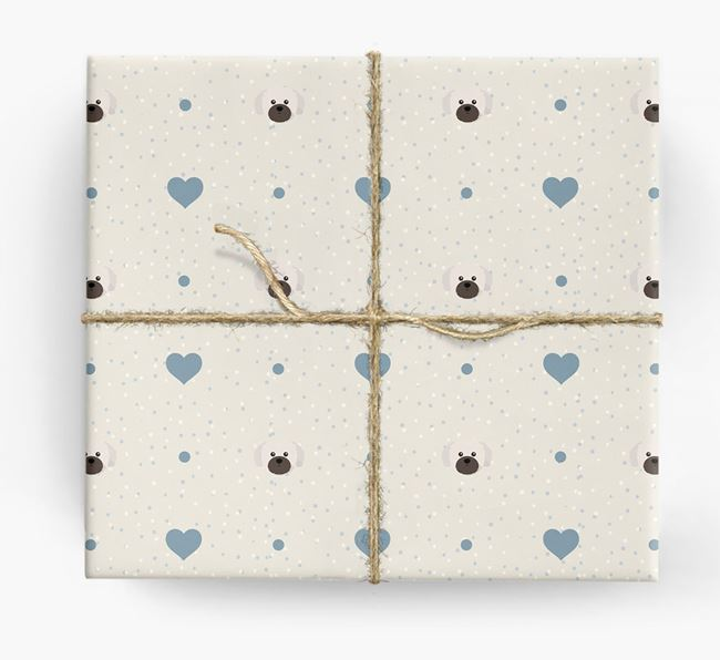 Shih Tzu Icon & Hearts Wrapping Paper