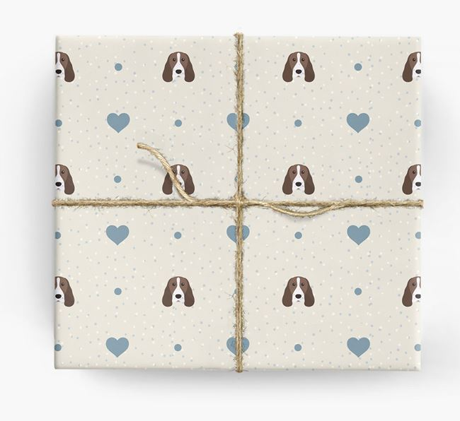 Springer Spaniel Icon & Hearts Wrapping Paper