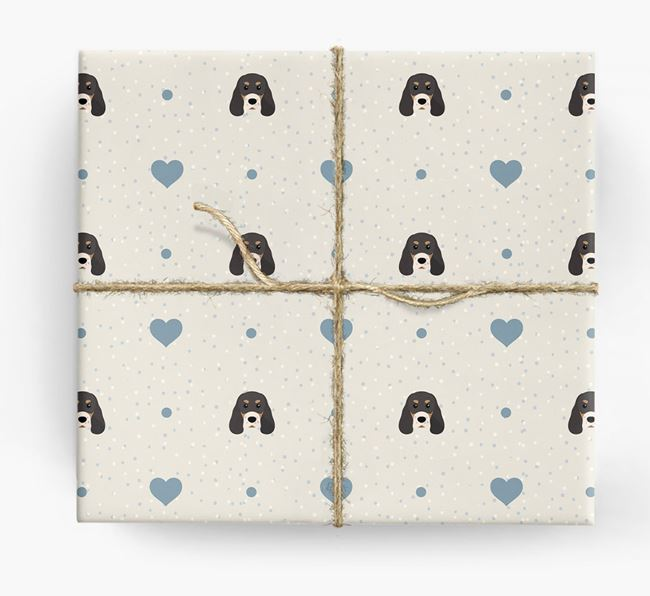 Sprocker Icon & Hearts Wrapping Paper