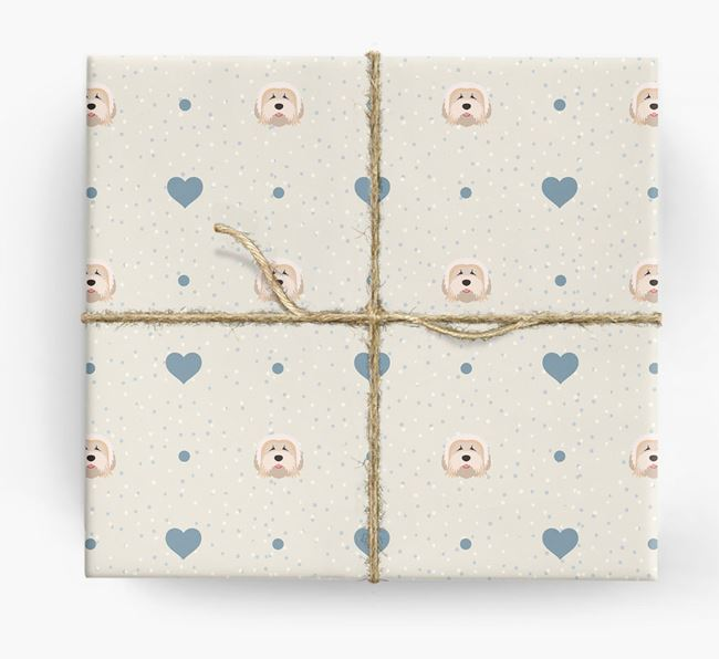 Tibetan Terrier Icon & Hearts Wrapping Paper