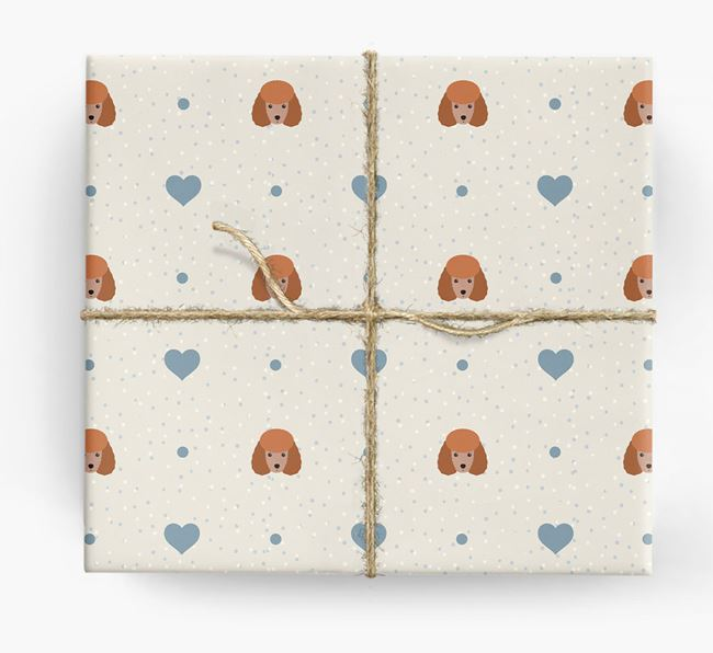 Toy Poodle Icon & Hearts Wrapping Paper