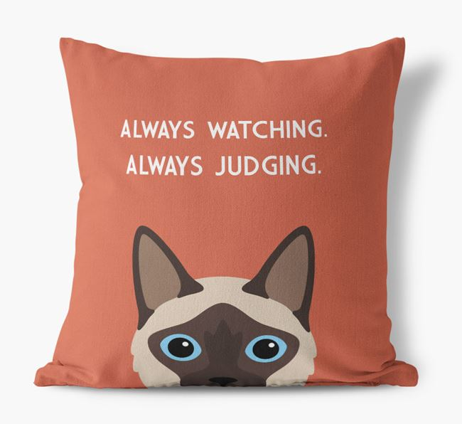 'Always Watching' - Personalized Balinese Canvas Pillow