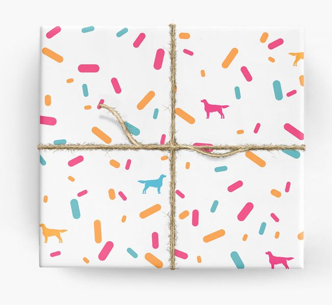 English Setter Silhouettes & Confetti Wrapping Paper
