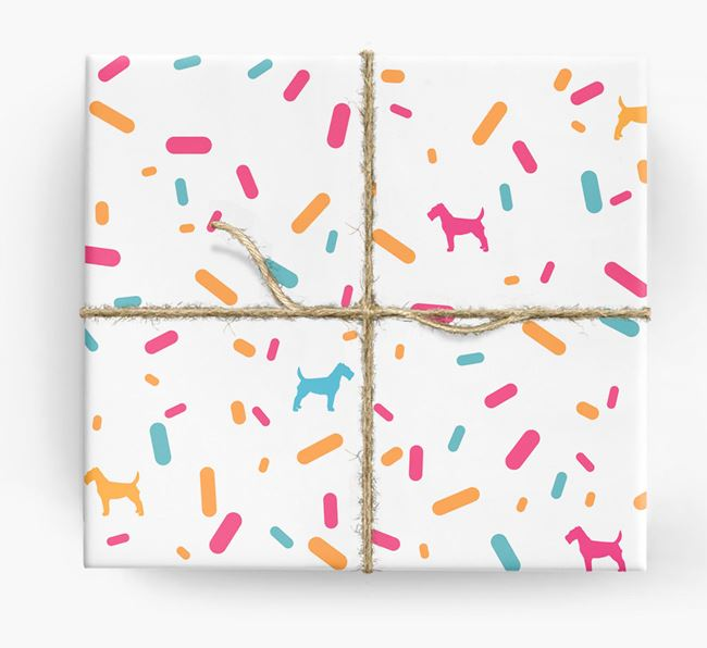 Fox Terrier Silhouettes & Confetti Wrapping Paper