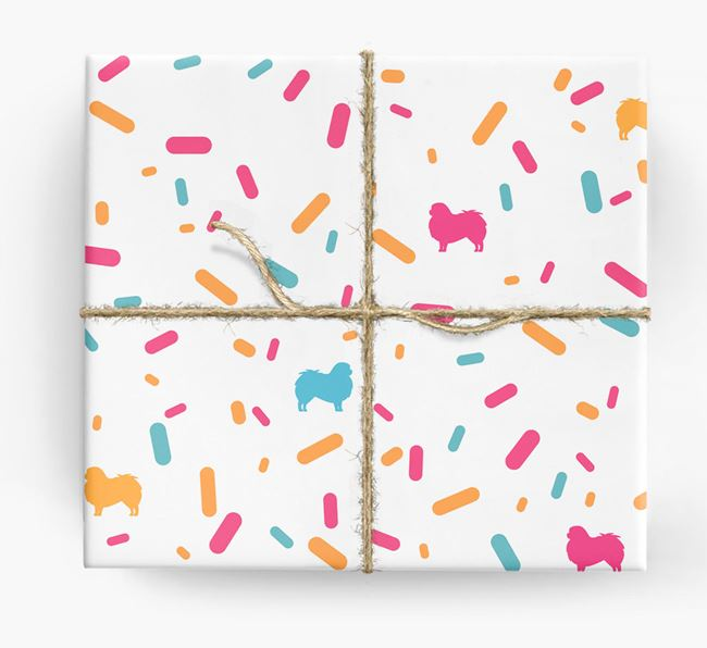 Japanese Chin Silhouettes & Confetti Wrapping Paper