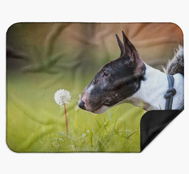 Blanket with photo of your Bull Terrier