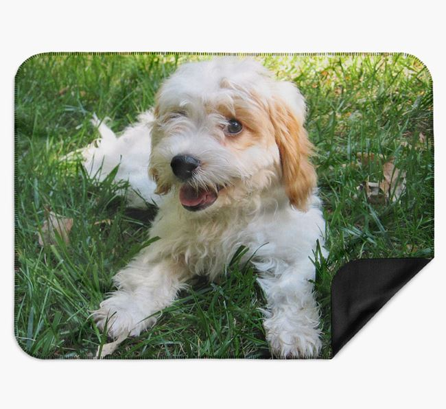 Blanket with photo of your Cavachon