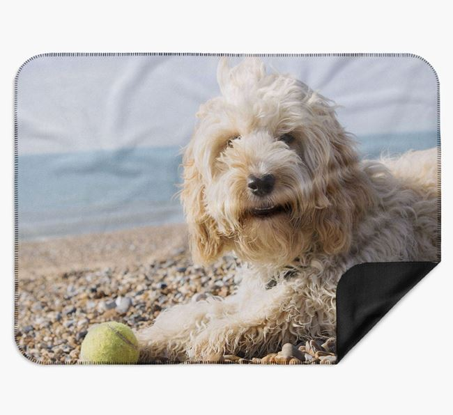 Blanket with photo of your Cockapoo
