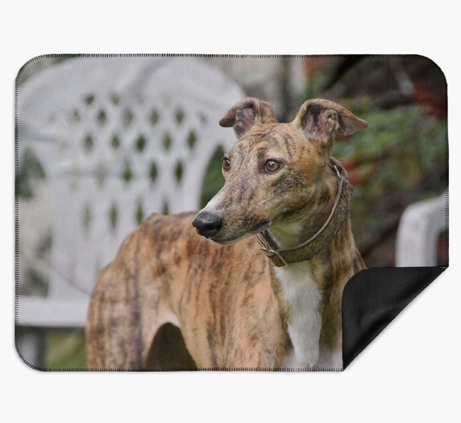 Blanket with photo of your Greyhound