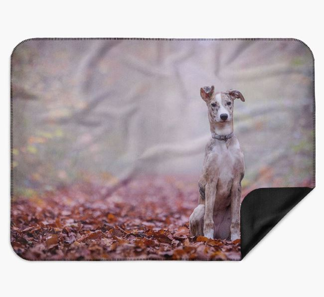 Blanket with photo of your Lurcher
