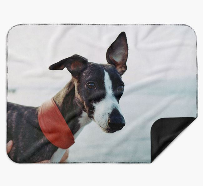 Blanket with photo of your Whippet